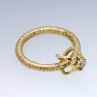 18ct Gold Diamond Roll Ring
