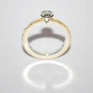 18ct Yellow and White Gold Diamond Engagement Ring