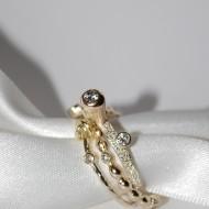 9ct Silver Diamond Sapphire remodel