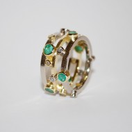 18ct Yellow/White gold ,Emerald and Diamond Remodel